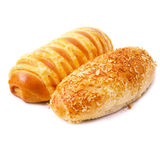 Fresh bun bread Royalty Free Stock Photos