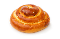Fresh bun isolated Royalty Free Stock Images