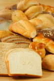 Fresh bunch of healthy breads. Different kinds of wheat breads  and white breads a perfect companion for meals Royalty Free Stock Photography