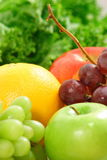 Fresh bunch of  organic fruits. Not just vitamins and antioxidant but also delicious  and juicy fruits Royalty Free Stock Images