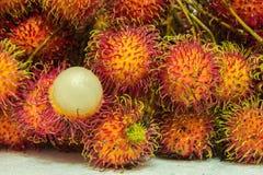 Fresh bunch rambutan from thailand Stock Photos