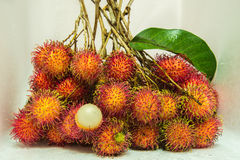 Fresh bunch rambutan from thailand Stock Image
