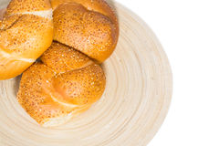 Fresh buns for breakfast Royalty Free Stock Photos