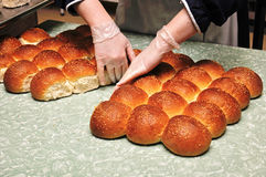 Fresh buns Stock Photos