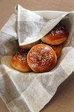Fresh buns with sesame Stock Photo