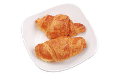 The fresh buns on white Stock Photography