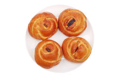 The fresh buns on white Stock Images