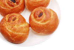 The fresh buns on white Royalty Free Stock Image