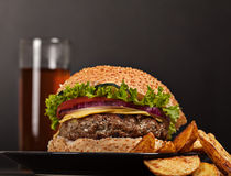 Fresh burger fast lunch meal Stock Photography