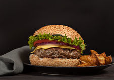 Fresh burger fast lunch meal Stock Photo
