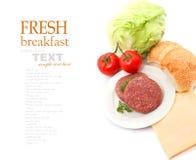 Fresh burger ingredients Stock Images