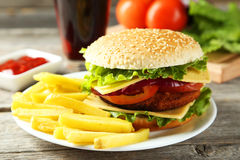 Fresh burgers Royalty Free Stock Photography