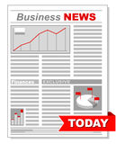 Fresh business newspaper with different diagrams Royalty Free Stock Photo