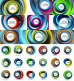 Fresh business waves and swirls design, abstract backgrounds and icons Royalty Free Stock Image