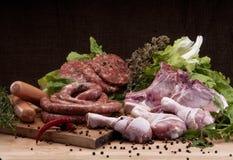Fresh butcher cut meat assortment Stock Image