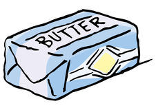 Fresh butter Royalty Free Stock Images