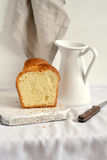 Fresh butter bread on a light surface Royalty Free Stock Photography