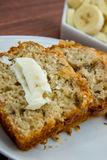 Fresh buttered banana walnut bread Royalty Free Stock Photography