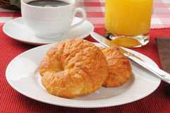 Fresh buttery croissants Royalty Free Stock Photography
