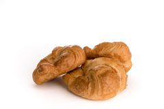 Fresh buttery  croissants. With white background Royalty Free Stock Image