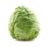 Fresh cabbage. On white Stock Photos