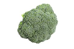 Fresh cabbage broccoli. On white background Royalty Free Stock Images