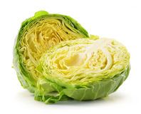 Fresh cabbage isolated on white Royalty Free Stock Photography