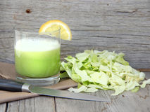 Fresh cabbage juice Stock Photos