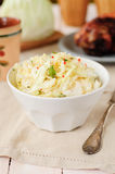 Fresh Cabbage, Mint and Chili Salad Stock Photos