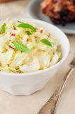 Fresh Cabbage, Mint and Chili Salad Royalty Free Stock Photography