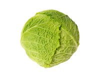 Fresh cabbage on white Royalty Free Stock Images