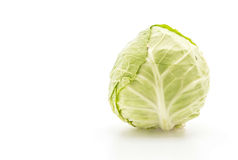 Fresh cabbage on white Royalty Free Stock Photography