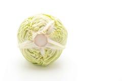 Fresh cabbage on white Stock Photos