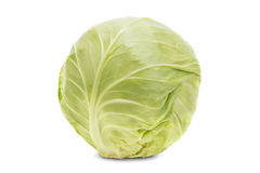 Fresh cabbage on a white background Royalty Free Stock Photos
