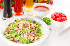 Fresh caesar salad Stock Photos