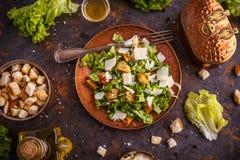 Fresh Caesar salad royalty free stock photo