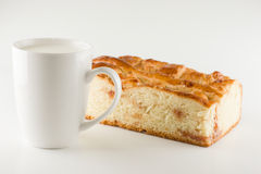 Fresh cake with apple filling Royalty Free Stock Images