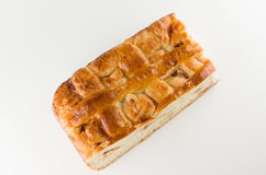 Fresh cake with apple filling Royalty Free Stock Image