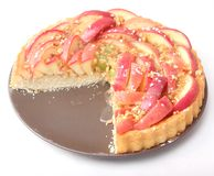 Fresh cake with apples Royalty Free Stock Images