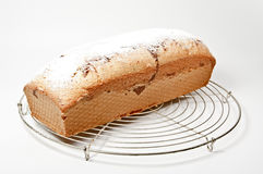 Fresh cake on a grid Stock Photo