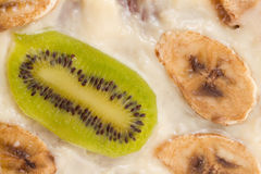 Fresh cake with kiwi and banana Royalty Free Stock Image