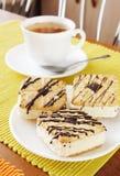 Fresh cakes and tea Stock Photos