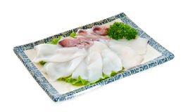 Fresh Calamari Close-Up on the background. Royalty Free Stock Photography
