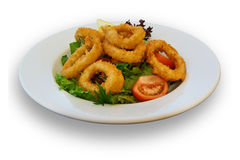 Fresh Calamari and Salad Lunch Stock Photography