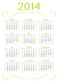 Fresh calendar 2014 Royalty Free Stock Photography