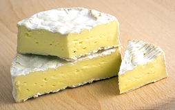 Fresh camembert cheese Stock Image