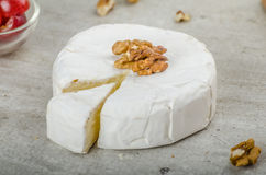 Fresh camembert from organic farms Royalty Free Stock Photography