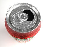 Fresh Can of Soda with Condensation. Refreshing Stock Photo