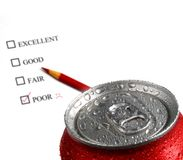 Fresh Can of Soda Pop with Survey Stock Images