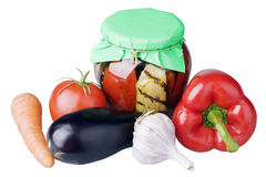 Fresh and canned vegetables Royalty Free Stock Photo